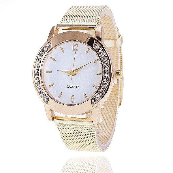 Relógio Feminino Vansvar Gold
