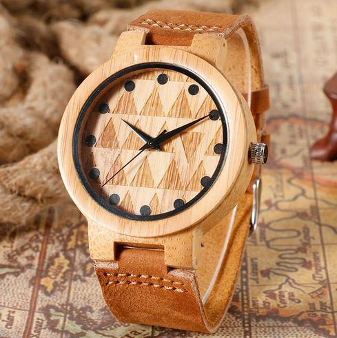 Relógio Feminino de Bambu Yisuya