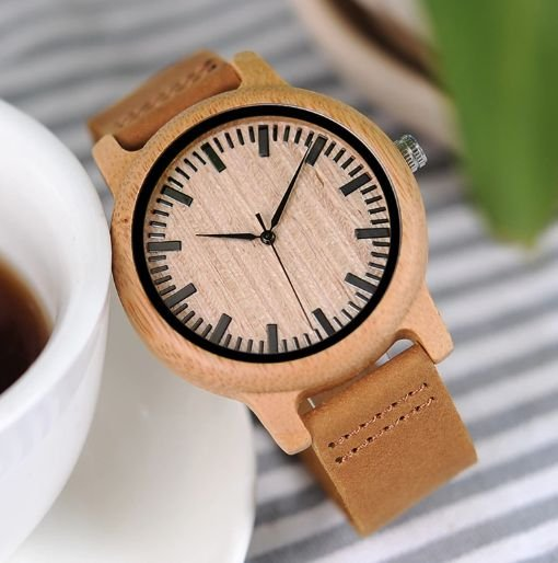 Relógio Feminino Bobobird Bambu