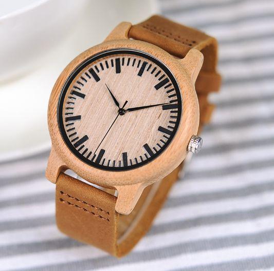 Relógio Feminino de Bambu Brasil