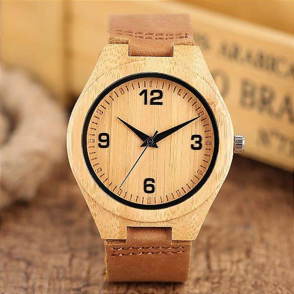 Relógio Feminino de Bambu Bora Bora