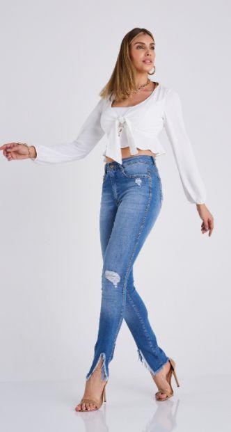 Calça Jeans Skinny Monaco