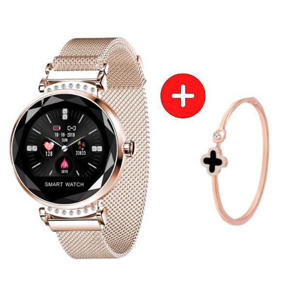 Relógio Eletrônico Smartwatch H2 + Pulseira