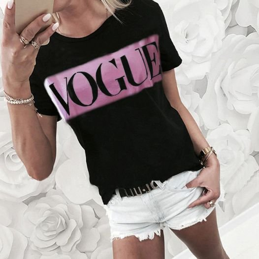 Camiseta Feminina Vogue DX