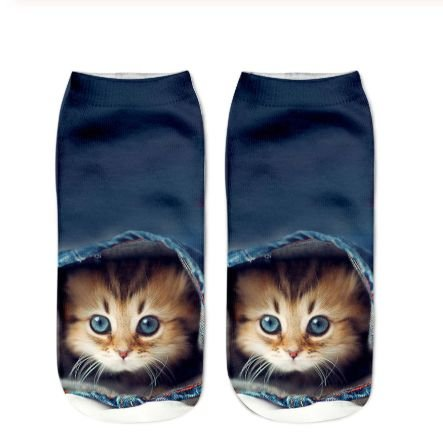 Meia Feminina 3D Cats