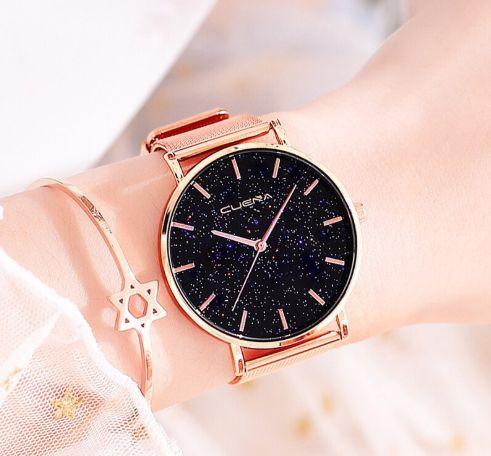 Relógio Feminino de aço Estrelado