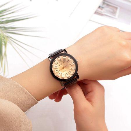 Relógio Feminino de aço Kevin