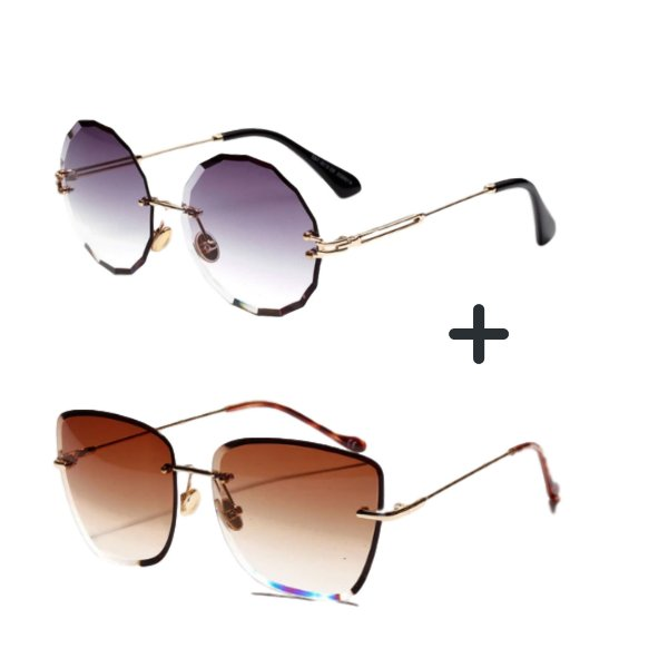 Kit com 2 - Óculos de Sol Feminino Kaboo + Óculos de Sol Feminino Dali Redondo