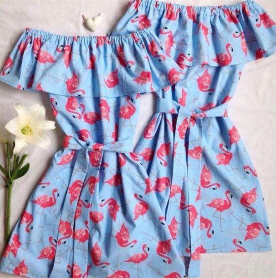 Vestido Tal Mãe Tal Filha Flamingo