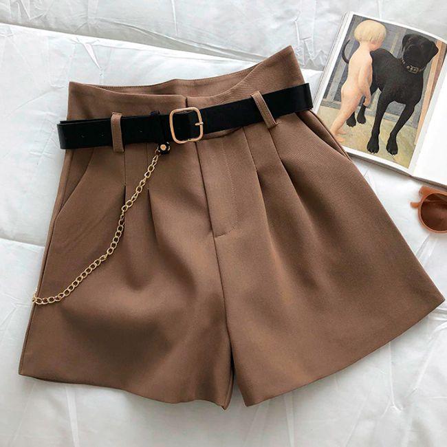 Shorts Feminino Com Corrente + Cinto
