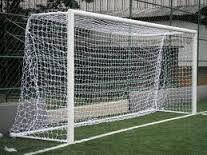 Par Rede gol Futebol Campo fio 5.0mm Nylon Modelo (tradicional tipo véu ) 1.50m Fundo.