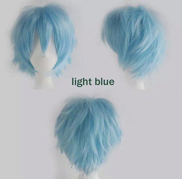 Peruca Curta - Azul Claro