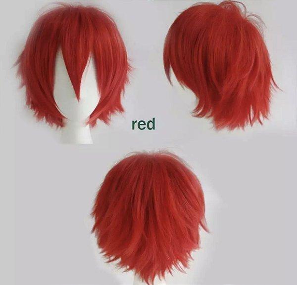 Peruca Curta - Vermelha