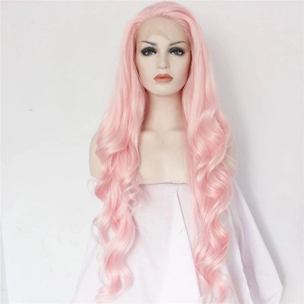 Peruca Front Lace - Pink