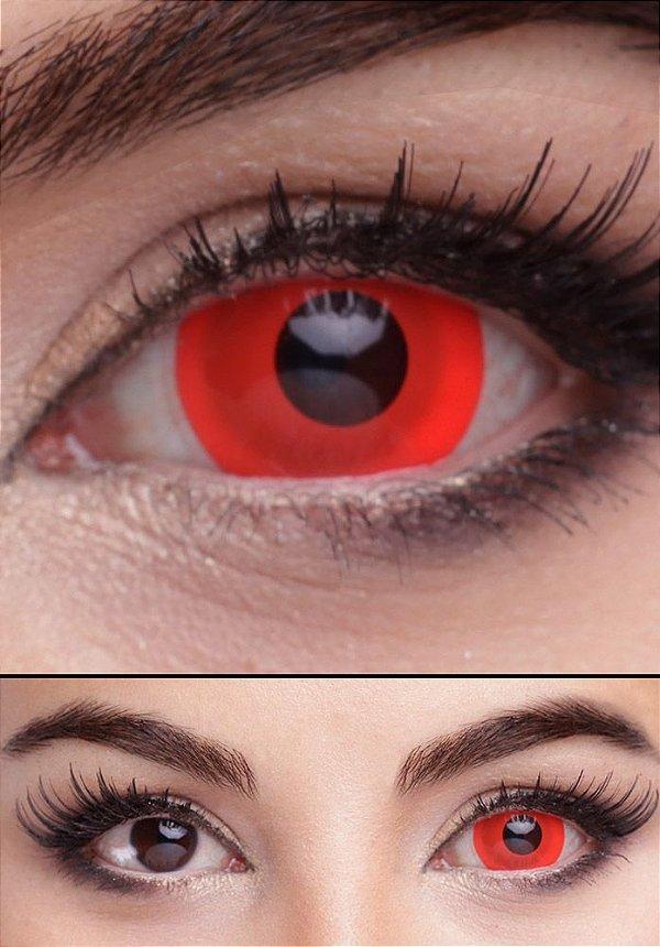 Crazy Lens - Mini Sclera Vermelha 17mm