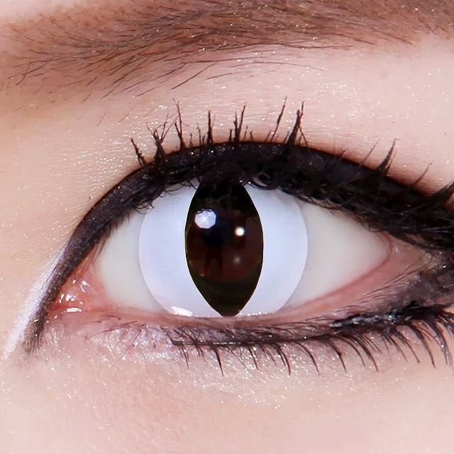 Crazy Lens - Olho de Gato Branco (Cat Eye White)