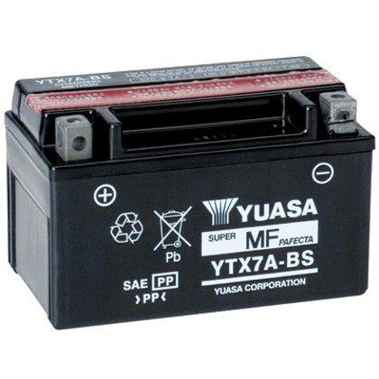 Bateria Yuasa YTX7A-BS | 12V, 6Ah, Suzuki AN 125 Burgman, Daelim NS 125, Kymco 125 Jockei, People