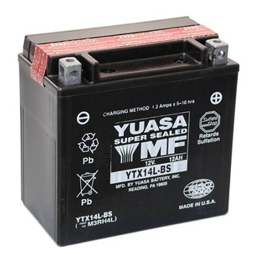 Bateria Yuasa YTX14L-BS, 12V, 12Ah, Harley-Davidson 883/1200 XL, XLH (Sportster), XG 500/750