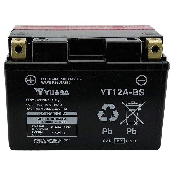 Bateria Yuasa YT12A-BS |12V - 10Ah| GSX1300R Hayabusa GS1299 S SA Bandit GSXR750 GSXR1000 SV650S