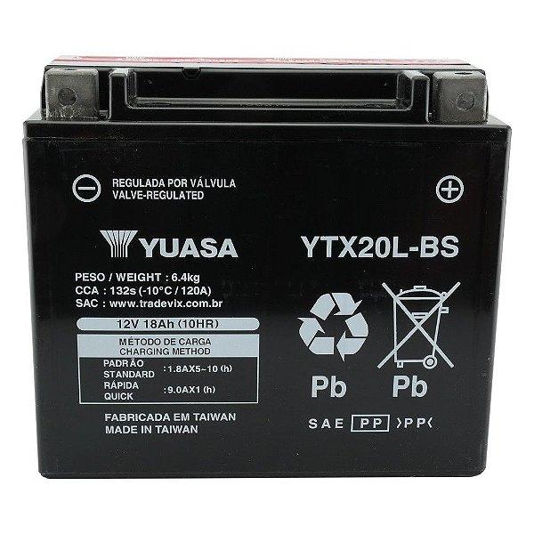 Bateria Yuasa YTX20L-BS |12V - 18Ah| Yamaha XVZ1300 Harley Davidson FLST| Kawasaki Jet Ski