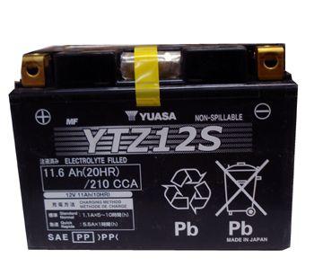 Bateria Yuasa YTZ12S, 12V, 11Ah, FES250, NS250S, PS250, VT750C, VTR1000F, CBR1100XX, XT1200Z