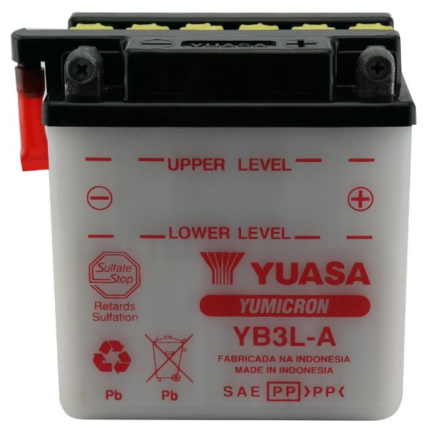 Bateria Yuasa YB3L-A |12V - 3Ah| XL250 / XL350 / DT/MX 180 / PX200 E, S, GT