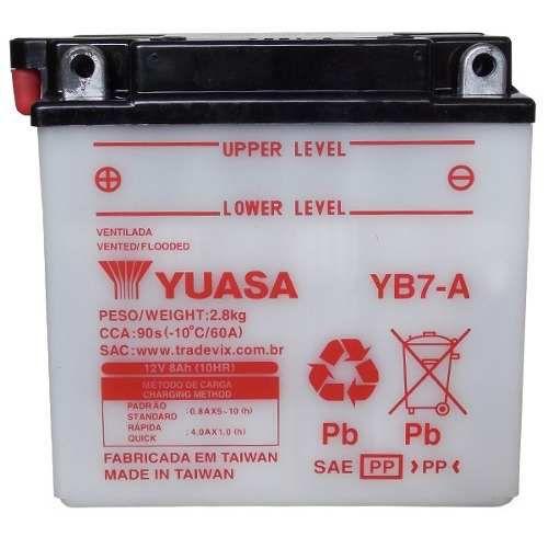 Bateria Yuasa YB7-A |12V - 8Ah| Suzuki 125 YES, Intruder 125 ED/Cargo, Katana 125
