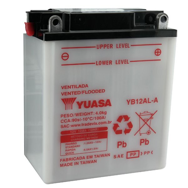 Bateria Yuasa YB12AL-A | 12V, 12Ah, XT 600Z Tenere, Aprilia 650 pegaso, BMW F 650 GS, FZR 600