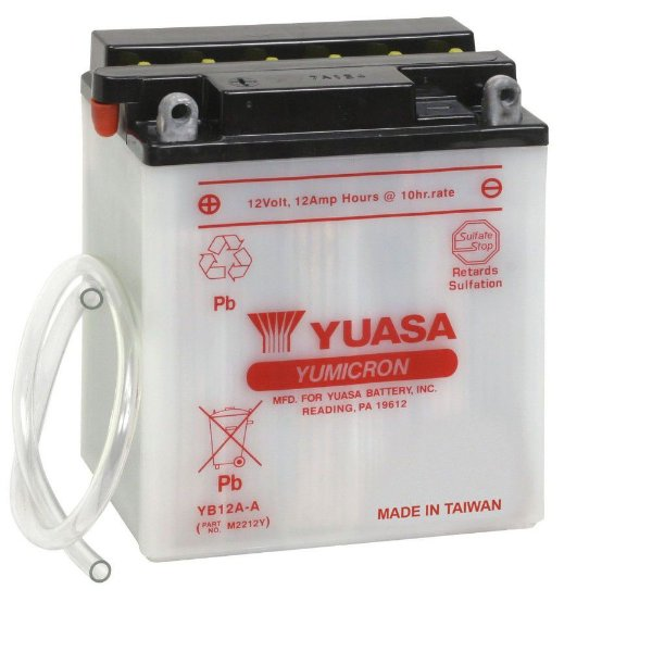Bateria Yuasa YB12A-A  12V - 12Ah  Honda CB400, CB450 SR