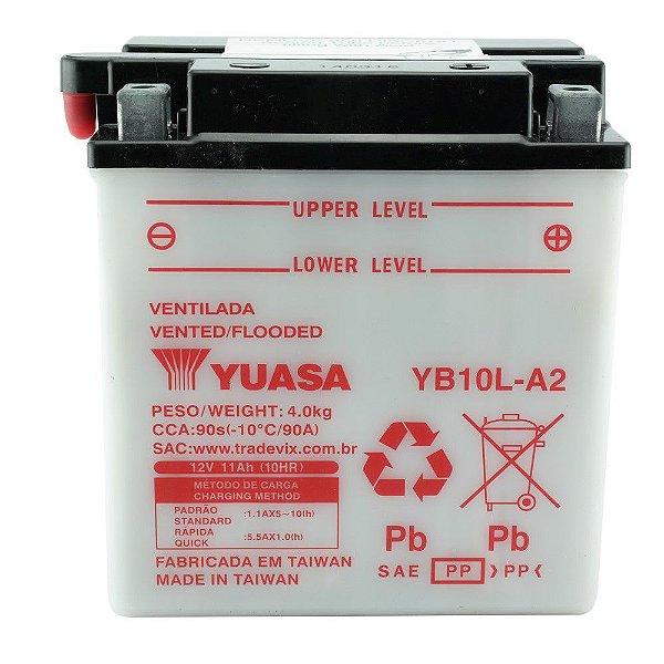 Bateria Yuasa YB10L-A2 |12V - 11Ah| Intruder 250, GS500, XV250, Z250A, C, J