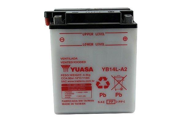 Bateria Yuasa YB14L-A2 |12V - 14Ah| Honda CB750A,C,F / Yamaha XTZ750 XJ900 / Kawasaki ZN1000 Ninja / Triumph 900 adventurer