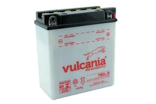 Bateria Vulcania YB5L-B |12V - 5Ah| XTZ125 Cripton Super100 Zig110