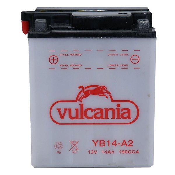 Bateria Vulcania YB14-A2, 12V, 14Ah, CBX 750F (84/86), CB750, CBF1000 importada (84/95)