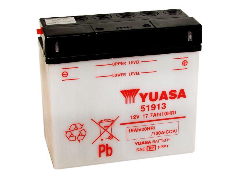 Bateria Yuasa 51913 |12V - 17,7Ah| BMW R850R, R1100GS, R1150GS, R, K1200LT, GT, RS, S