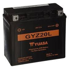 Bateria Yuasa GYZ20L  12V - 20Ah  GL1800 Gold Wing, F6B, NRX1800 Valkyrie Rune