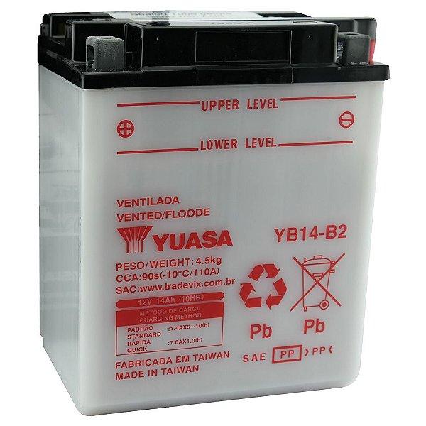 Bateria Yuasa YB14-B2, 14Ah XL600 VT700 Shadow  VT800 Shadow
