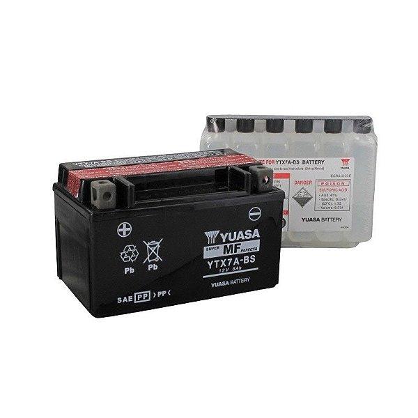 Bateria Yuasa YTX7A-BS 6Ah Future XLR Burgman 125 Ninja 250