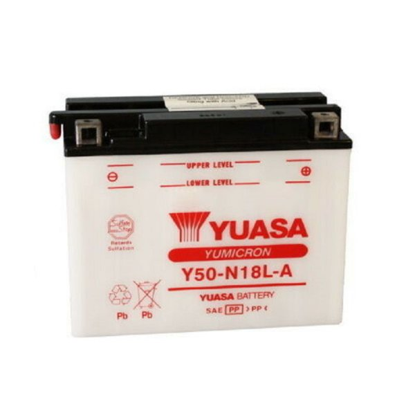 Bateria Yuasa Y50-N18L-A GL1100 Gold Wing XV1000 Virago VN1500 Vulcan