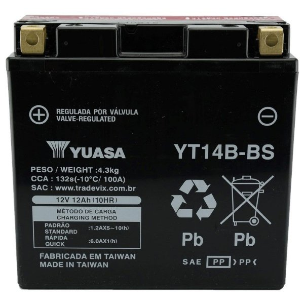 Bateria Yuasa YT14B-BS FZS 1000, MT-01, BT1100, XVS1100 Drag Star, FJR1300