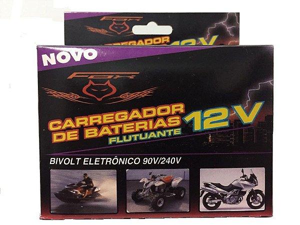 Carregador Bateria de Moto 12V Inteligente Flutuante Bivolt