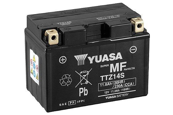 Bateria Yuasa TTZ14S FZ1 VMax CB1300 XL700 Transalp KTM 990 Midnight 950 Shadow 750 YTZ14S