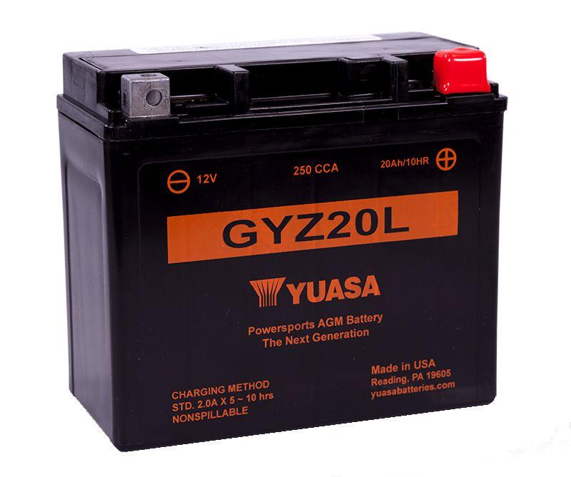 Bateria Yuasa GYZ20L 12V 20Ah GL1800 Gold Wing Valkyrie Rune