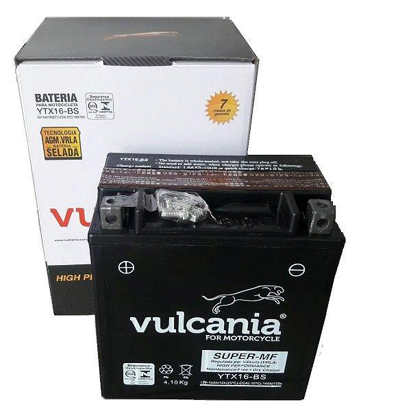Bateria Vulcania YTX16-BS 14ah Tiger 800 Zr1100 Marauder1600