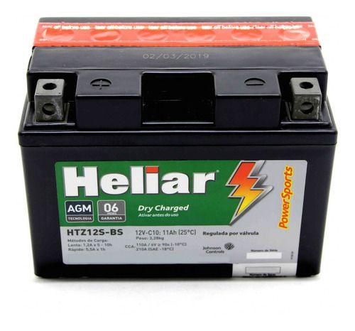 Bateria Heliar HTZ12S CBR1100 NC700 VT750 TMAX S1000RR XT1200Z Super Tenere