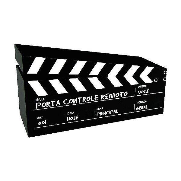 Porta Controle Remoto Cinema Preto