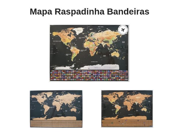 MAPA DO MUNDO DE RASPAR BANDEIRAS