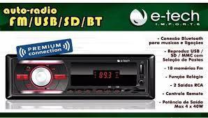 AUTO RADIO BLUETOOTH FM-USB-SD