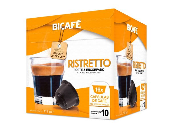 Cápsula de café Ristretto para máquinas Dolce Gusto* (Intensidade 10)