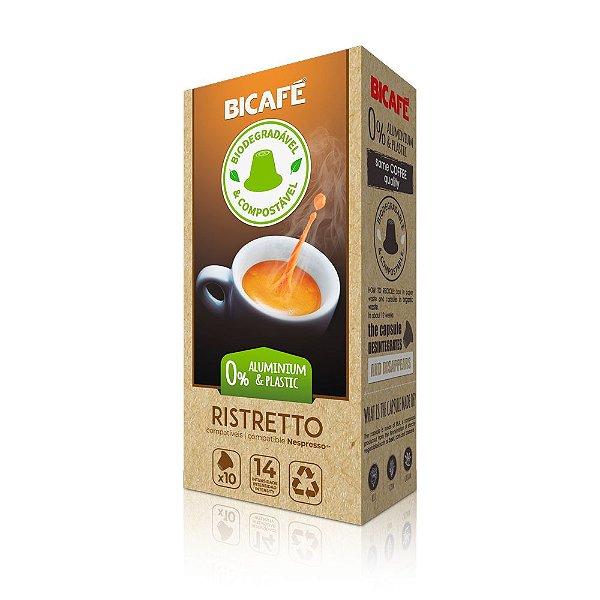 Cápsula de café Ristretto Biodegradável para máquinas Nespresso* (Intensidade 14)