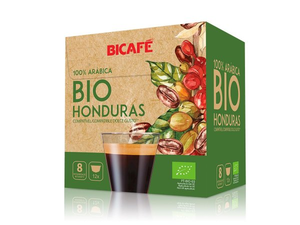 Cápsula de café Bio Honduras 100% arábica para máquinas Dolce Gusto* (Intensidade 08)